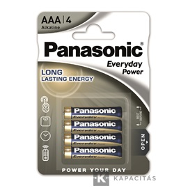 Panasonic Everyday Power AAA mikro 1.5V szupertartós alkáli elemcsomag 4db/bliszter