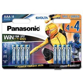 Panasonic LR03EGE/8BW 4+4 Power Rangers