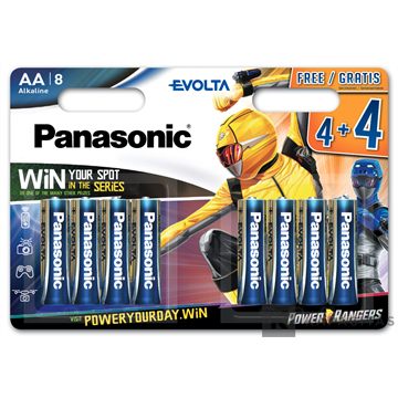 Panasonic LR6EGE/8BW 4+4 Power Rangers