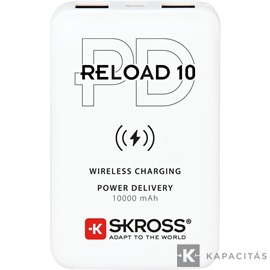 SKROSS Reload10 10Ah power bank USB/ wireless töltéssel