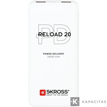 SKROSS Reload20 20Ah power bank USB/microUSB kábellel, két kimenettel