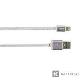 SKROSS Steel Line 2in1 Chargen Sync Micro USB & Lightning kábel 1m