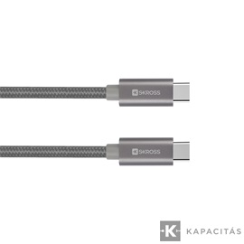 SKROSS Steel Line Type-C - Type-C 2.0, 2m USB kábel